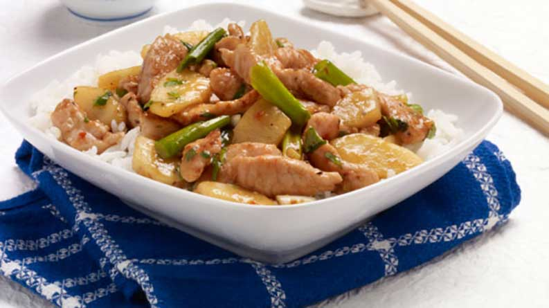 Pear and Pork Stir-fry