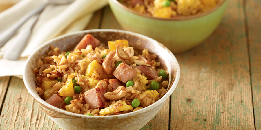 Ham and Pineapple Fried Rice