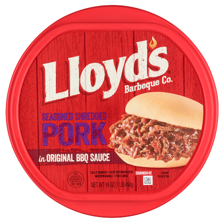 LLOYD&rsquo;S<sup>&reg;</sup> Seasoned &amp; Shredded Pork in Original BBQ Sauce