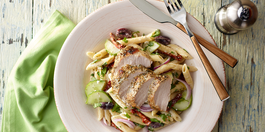 <strong>Greek Pasta Pork Loin</strong>