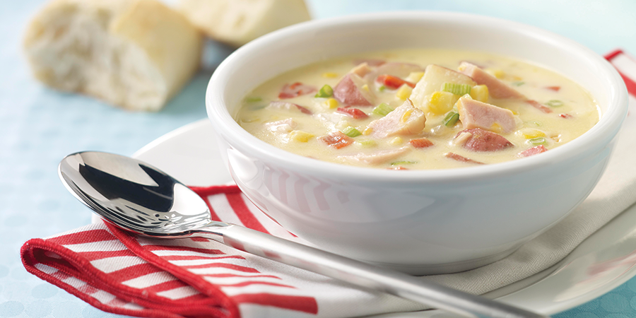 Cheesy Ham and Corn Chowder