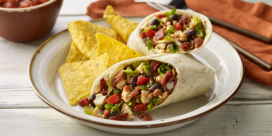 Southwestern Bacon Burritos