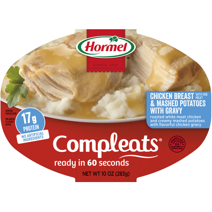 HORMEL<sup>®</sup> COMPLEATS<sup>®</sup> Chicken Breast & Gravy with Mashed Potatoes