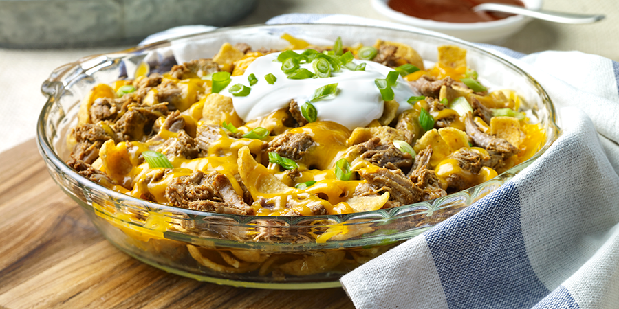 Corn Chip Taco Pie