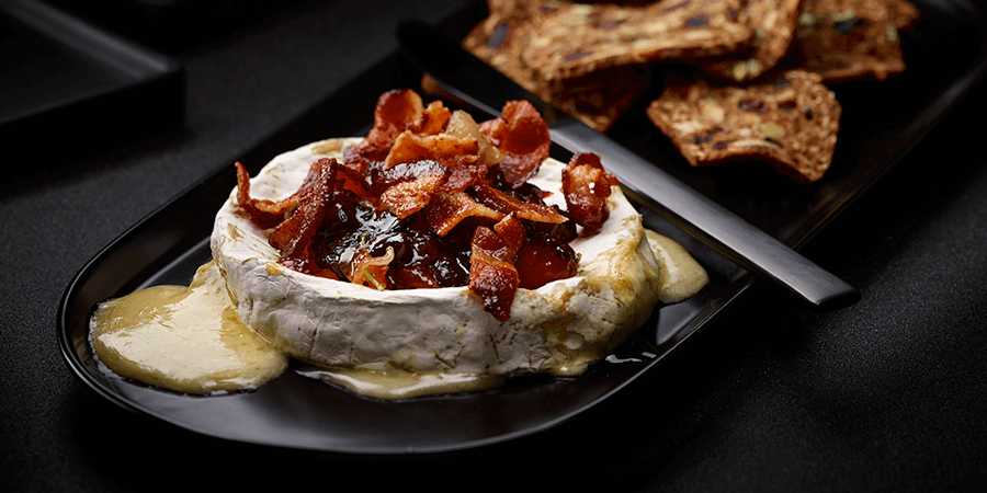 <strong>Bacon Cranberry Baked Brie</strong>