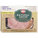 HORMEL<sup>&reg;</sup> NATURAL CHOICE<sup>&reg;</sup> Honey Deli Ham Family Pack