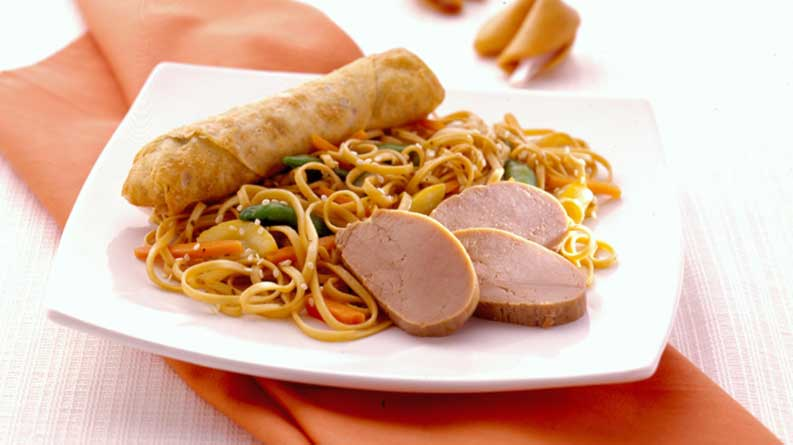 Easy Pork Lo Mein