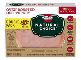 HORMEL<sup>®</sup> NATURAL CHOICE<sup>®</sup> Oven Roasted Deli Turkey DOUBLE PACK