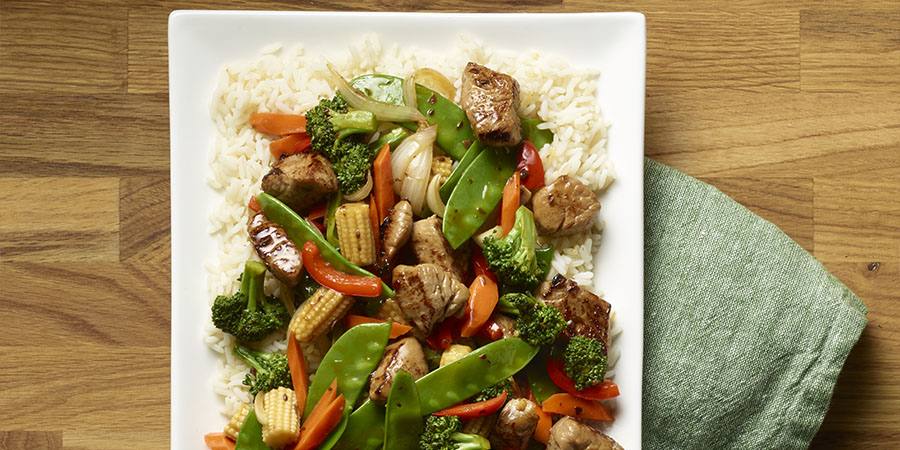 Teriyaki Pork & Vegetable Stir-Fry
