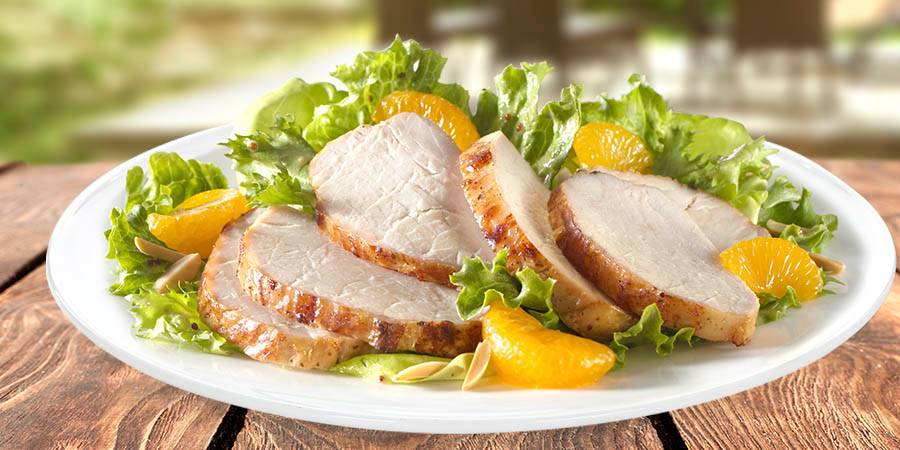 Honey Dijon & Orange Pork Salad