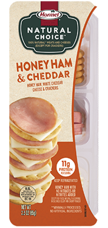 HORMEL<sup>®</sup> NATURAL CHOICE<sup>™</sup> STACKS Honey Ham & Cheddar