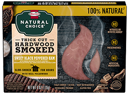 HORMEL® NATURAL CHOICE® Pecanwood Smoked Ham with Sweet Black Pepper