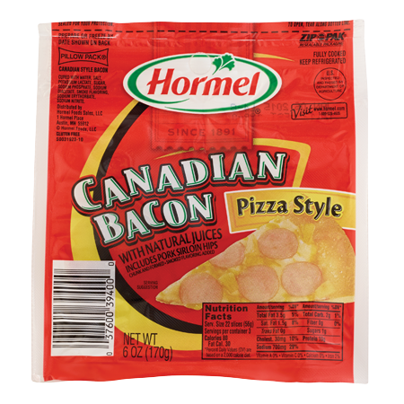HORMEL<sup>®</sup> PILLOW PACK<sup>®</sup> Canadian Bacon