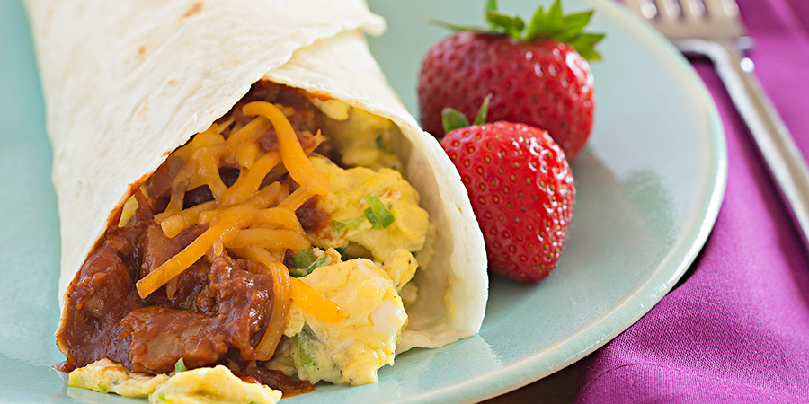 Barbeque Breakfast Burrito