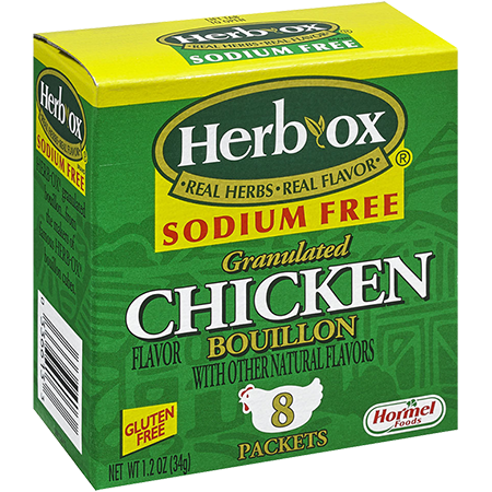 HERB-OX<sup>®</sup> Sodium Free Granulated Chicken Bouillon Packets - 1.2 oz<br />