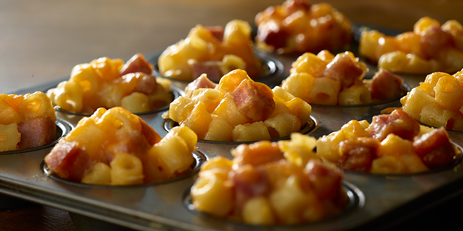 Ham Mac and Cheese Bites