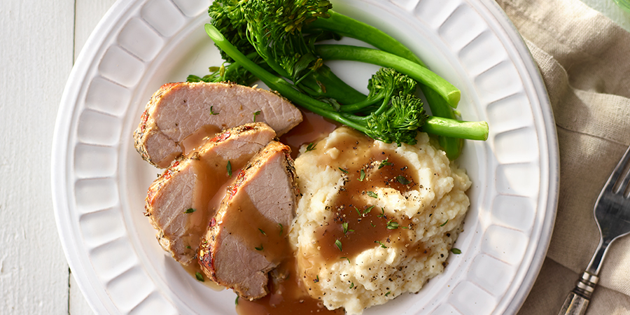 <strong>Herb Pork Loin and Mashed Potatoes</strong>