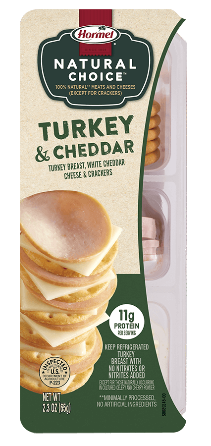 HORMEL<sup>®</sup> NATURAL CHOICE<sup>™</sup> STACKS Turkey & Cheddar