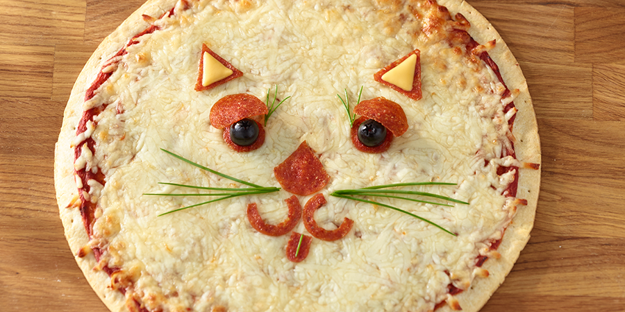 Cat Face Pizza