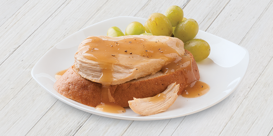 Open-Faced Chicken Breast Sandwich