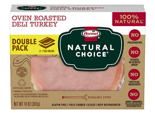 HORMEL<sup>&reg;</sup> NATURAL&nbsp;CHOICE<sup>&reg;</sup> Oven Roasted Deli Turkey DOUBLE PACK