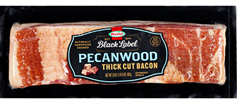 HORMEL<sup>&reg;</sup> BLACK LABEL<sup>&reg;</sup> Pecanwood Thick Cut Bacon