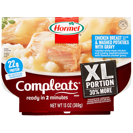 HORMEL<sup>®</sup> COMPLEATS<sup>®</sup> XL Chicken Breast and Mashed Potatoes With Gravy