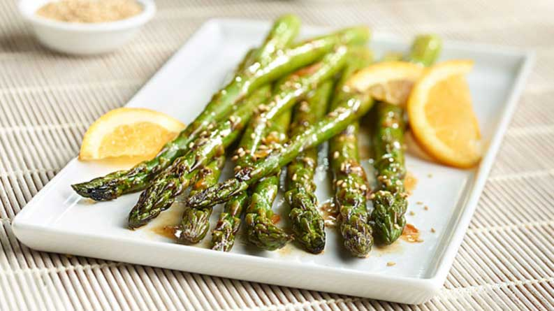 Sticky Orange Sesame Asparagus