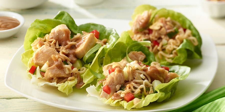 Asian-style Chicken Lettuce Wraps