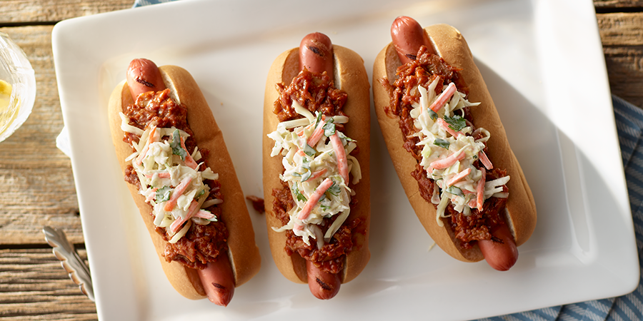 Barbeque Pork Slaw Dogs