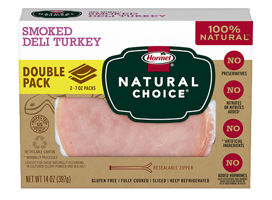 HORMEL<sup>&reg;</sup> NATURAL&nbsp;CHOICE<sup>&reg;</sup> Smoked Deli Turkey DOUBLE PACK