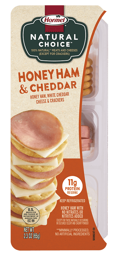 HORMEL<sup>®</sup> NATURAL CHOICE<sup>®</sup> STACKS Honey Ham & Cheddar
