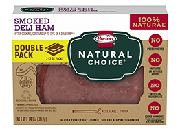 HORMEL<sup>®</sup> NATURAL CHOICE<sup>®</sup> Smoked Deli Ham DOUBLE PACK
