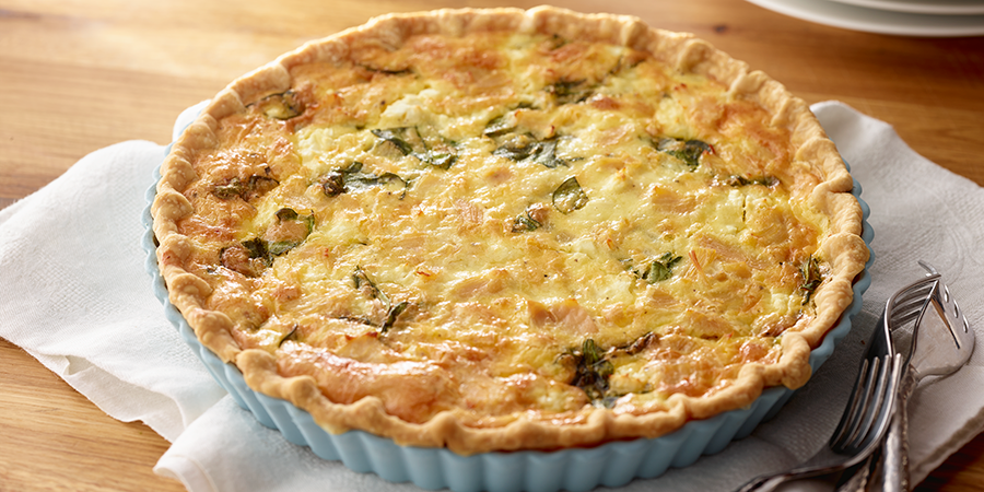 Chicken, Spinach & Feta Quiche