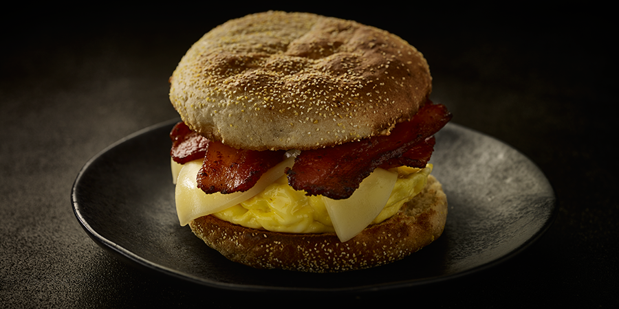 Bacon and English Muffin Sandwich