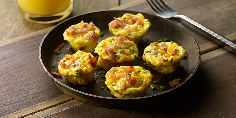 Mini Bacon and Egg Muffins