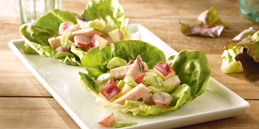 Turkey Waldorf Salad Wraps
