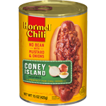 HORMEL<sup>®</sup> Chili Coney Island Inspired No Bean
