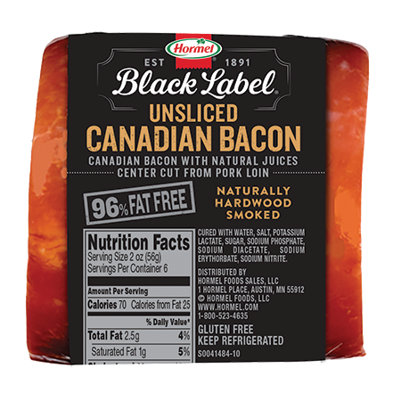 HORMEL<sup>®</sup> BLACK LABEL<sup>®</sup> Canadian Bacon Unsliced