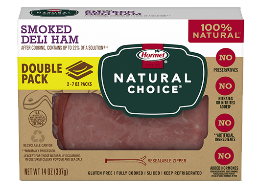 HORMEL<sup>&reg;</sup> NATURAL&nbsp;CHOICE<sup>&reg;</sup> Smoked Deli Ham DOUBLE PACK