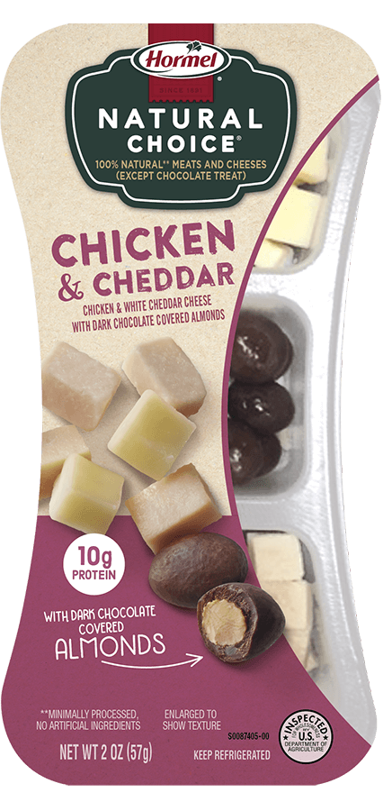 HORMEL<sup>®</sup> NATURAL CHOICE<sup>®</sup> SNACKS Chicken & Cheddar