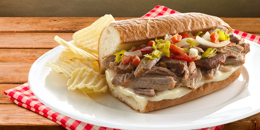 Italian-Style Pork French Dips