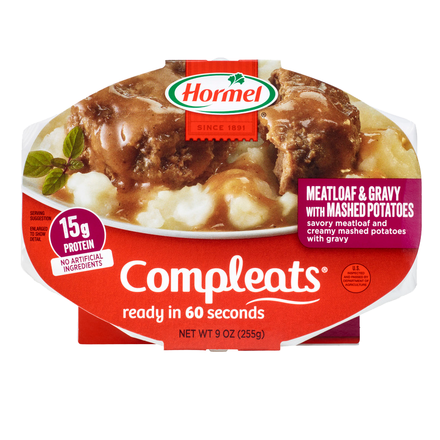 HORMEL<sup>&reg;</sup> COMPLEATS<sup>&reg;</sup> Meatloaf &amp; Mashed Potatoes