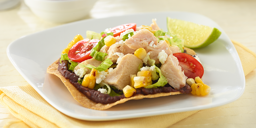 Chicken and Corn Tostadas