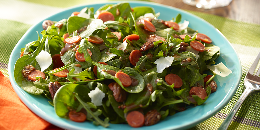 Arugula Pepperoni Salad