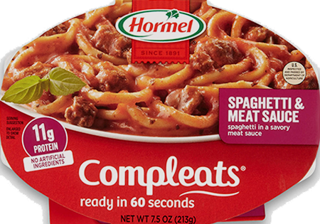 HORMEL<sup>&reg;</sup> COMPLEATS<sup>&reg;</sup> Spaghetti &amp; Meat Sauce