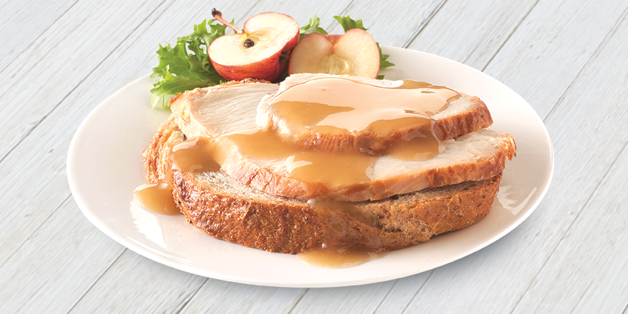 Open-Faced Turkey Sandwich