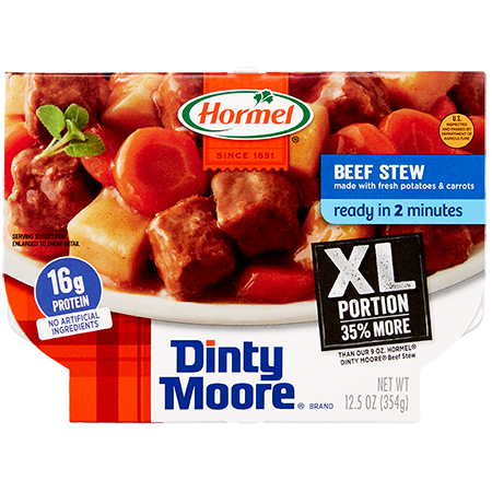 HORMEL<sup>®</sup> COMPLEATS<sup>®</sup> XL DINTY MOORE<sup>®</sup> Beef Stew