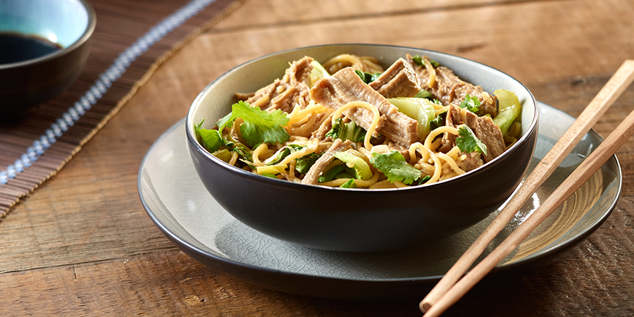 Slow-Cooker Pork with Noodles