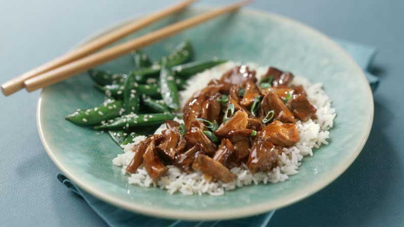 Sweet & Sour Beef and Rice